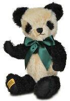 Merrythought Antique Panda teddy bear classic mohair - 35cm / 14 inches - AP14BC