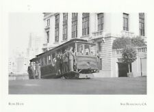 """Rush Hour"" -Car #11- (California & Stockton St) *San Francisco {Postcard} (Xt42"