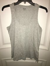 Madewell Tank Top Size XS 100% Cotton Scoop Neck Gray