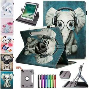 360°Universal Leather Case Stand Cover For iPad 7/6/5th 4 3 2 mini 5 Air 2 3 Pro