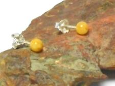 Round  Butterscotch  AMBER   Sterling  Silver  925  Earrings / STUDS  -  5 mm