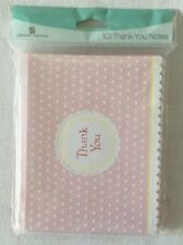NEW 10 PINK AMERICAN GREETINGS THANK YOU NOTES PARTY SUPPLIES