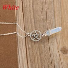 Women Healing Stone Point Chakra Natural Crystal Pendant GEMSTONE Necklace White