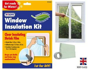 Window Insulation Kit Double Glazing Shrink Film Draught Excluder Cold Frost UK