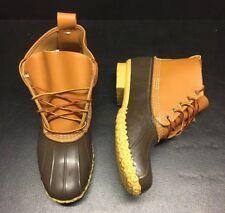 "🦆$135 Mens L.L. Bean Boots 6"" Inch LL Duck sz 11 Tan Brown Original Waterproof"