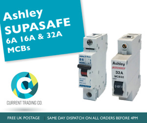 Ashley/Ashley & Rock 6A, 16A, & 32A MCBs - USED - Circuit Breakers