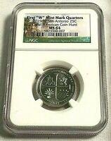 2019-W San Antonio NP 25c Quarter WEST POINT, Coin Hunt, NGC MS-64 UNC