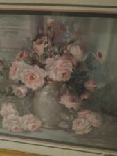 Vintage Home Interior Gold Picture Roses Of Tranquility Homoco Rare Nice