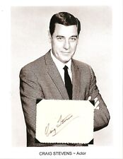 Craig Stevens Autograph Peter Gunn NBC The Culver City Commandos Ray Bolger Show