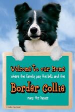 3D BORDER COLLIE WELCOME SIGN STUNNING 3D FS602 great Christmas stocking filler