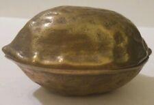 Vintage Brass Walnut Nut Cracker Dish
