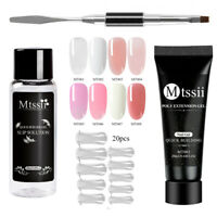 MTSSII Nail Tips Poly Extension UV Gel Quick Building Soak Off Manicure Tool Kit