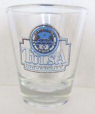 TULSA UNIVERSITY  BLUE & GOLD   SHORT SHOT GLASS