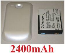 Carcasa Blanco+ Batería 2400mAh tipo EB464358VU Para SAMSUNG GT-S6500