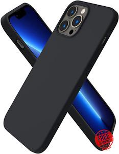 Case For iPhone 13 Pro Max Slim Liquid Silicone 3 Layers Inner Microfiber Cover