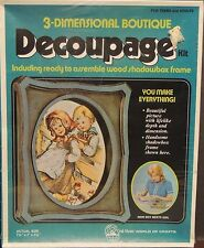 Boy Meets Girl Decoupage 3-Dimensional Boutique wood Shadow Box vintage arts kit
