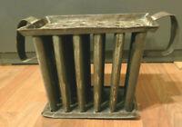 Antique Circa1800s Primitive Tin Metal Candle Mold - 24 Hole w/Handles Farmhouse