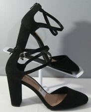 New Women's Christian Siriano 179057 Kam Black High Heels Shoe Sz 7 Ankle Straps