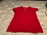 UNDER ARMOUR Men's Red Short Sleeve Shirt. Size Medium  USA FREE SHIPPING