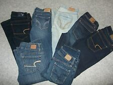 Womens American Eagle & Hollister Jeans LOT of Seven Pair size 0 Short