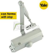 Ferme porte YALE avec arrêt série 3000-4-60-11 argenté avec ressort fermeture