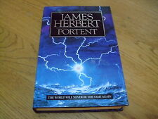 JAMES HERBERT-PORTENT-SIGNED-1ST-1992-HB-NF/F-HODDER & STOUGHTON-VERY RARE