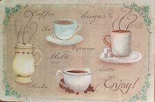 Placemats Vinyl Set of 4 Coffee Tea Milk