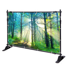 10' Telescopic Step and Repeat Banner Backdrop Stand Adjustable Display Wall