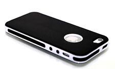 Black/White UltraThin Rubber Matte Soft PC Bumper case cover for iPhone 5 5S SE