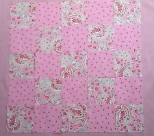 Rare Cath Kidston Ikea Fabric  25 Patchwork Squares 10x10cm Pink Paisley & Spot
