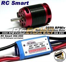 RC Model 3550 KV Outrunner Brushless Motor & R/C 30A ESC Speed Controller CA030