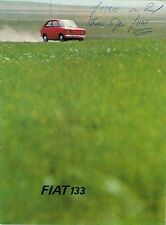 Fiat Seat 133 Saloon 1974-75 UK Market Sales Brochure