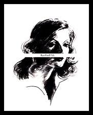 1926-rpt GRETA GARBO Flesh and The Devil Silent Era Hollywood Caricature MATTED