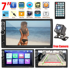 "2 Din 7"" HD Car Stereo Radio MP5 Player Bluetooth Touch Screen + Rear Camera"