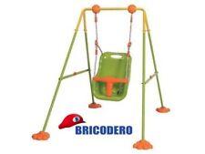 Altalena dondolo monoposto per bimbo giardini giochi esterni sicuri 115x160xh120
