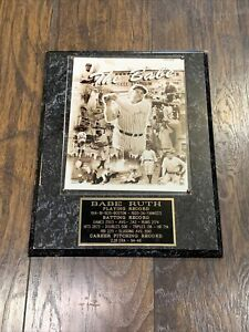 Babe Ruth New York Yankees NYY Playing Record Plaque 'The Babe'