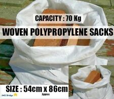 100 X WOVEN LARGE EXTRA HEAVY DUTY RUBBLE SAND BAG SACKS POLYPROPYLENE BUILDER