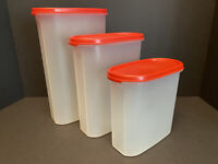 Vintage Tupperware Modular Mates Lot of 3 Oval #5 #4 #3 Storage Containers