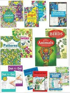 2x Colouring books.Activity Mind Relaxing Adult Stress Relief Therapy x8+Pencils