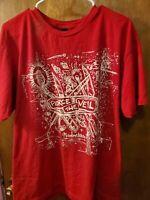 Pierce The Veil Misadventures Mens Red Cotton Top T-Shirt Tee XL