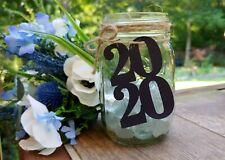 Graduation Party Decor, 2020 Tags for Mason Jars, Graduation Centerpiece