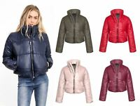 Womens Puffer Cropped Fashion Puffa Winter Warm Top Quilted Coat Jacket Padded