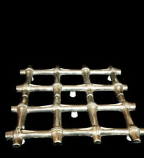 Vintage Silver-Plate Metal Expandable Adjustable Bamboo Style Trivet
