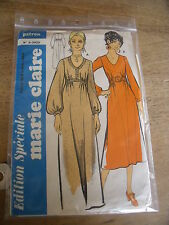 ( 5 )  ANCIEN PATRON MARIE CLAIRE ROBE BABA COOL  TAILLE 40