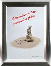Bilderrahmen Kunststoff mit Antireflexglas Klassische Leiste 246 Braun, Natur