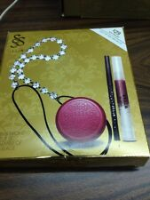STILA MERRY & BRIGHT MAKEUP SET  LIP GLAZE, LIP & CHEEK CREAM Tulip, EYELINER