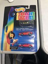 Hot Wheels 1987 Color Racers - Police Taxi, Ferrari 308 & T-Top Tbird Card 5607