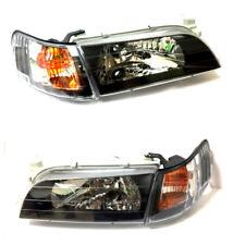 93-97 Toyota Corolla JDM Spec Headlights Black Housing Clear Lenses Lens