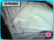 🐟 50 x PVA BAGS, 65x150mm 🐟 FULL DISSOLVE, FOR BOILIES, PELLETS, STICK MIX ETC