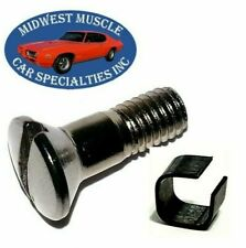 53-76 GM Front Windshield Window Inside Rear View Mirror Screw & Bushing 1pc QD